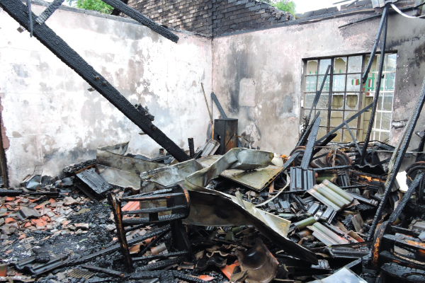 <p>Family loses everything in fire</p>