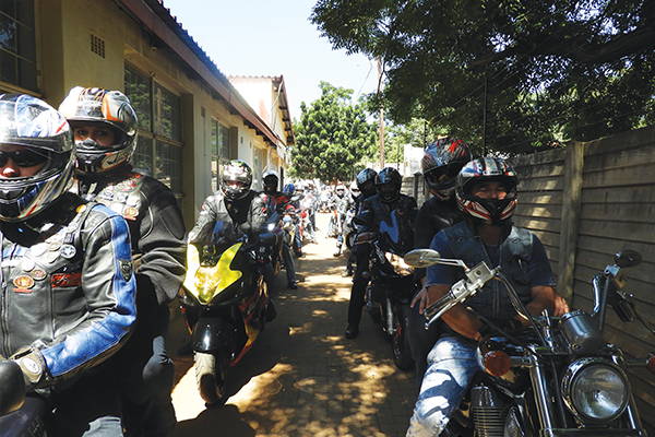 <p>Mass ride against animal abuse</p>