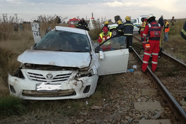 <p>Trains hits car</p>