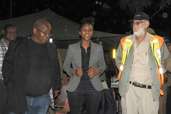 From left: Shadrack Kotsedi, director of Public Safety; Nqobile Sithole, municipal manager for Rustenburg Local Municipality and Johan de Klerk, chairman of security for AfriForum Rustenburg. �This is a first in Rustenburg�s history, that an operation of this magnitude was undertaken,� Sithole said.