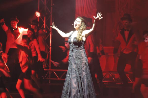 Cara Grobbelaar in Phantom of the Opera.