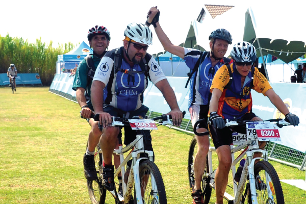 <p>Blind riders excited to conquer the Monster</p>