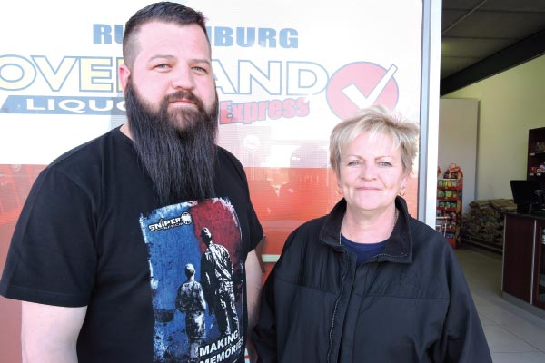 Frustrated and furious� from left: Barnie van Niekerk, owner of liquor store and Adrienne le Roux, manager.