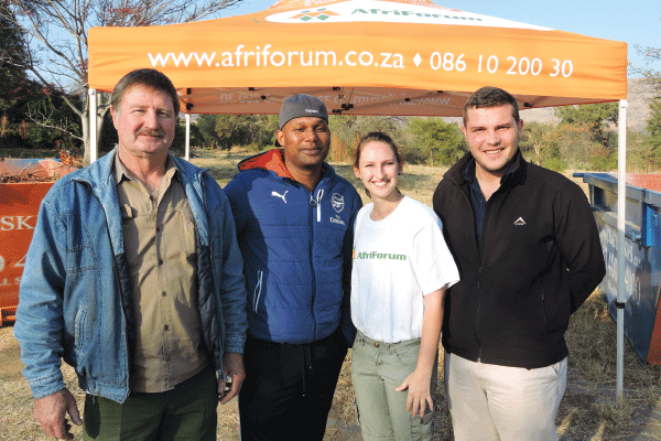 THE ORGANISERS, from left: Piet Botha, local government liaison of AfriForum; Mpho Khunou, acting unit manager for waste management (RLM); Charn� Blignaut, AfriForum environmental affairs; and Tiaan Oosthuizen, AfriForum NW district coordinator.